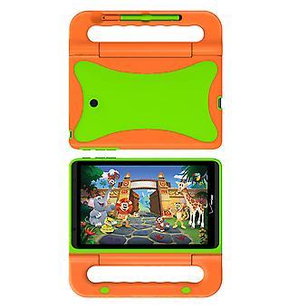 Verizon Kids Case voor weglatingsteken Kids Tablet, weglatingsteken 8 - oranje/groen