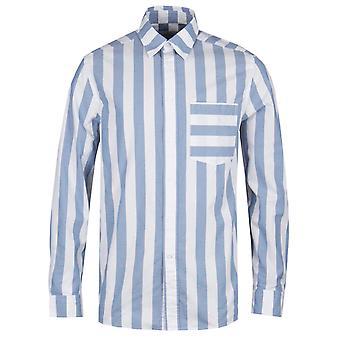 Calvin Klein rento sovi retro raita sininen & valkoinen paita