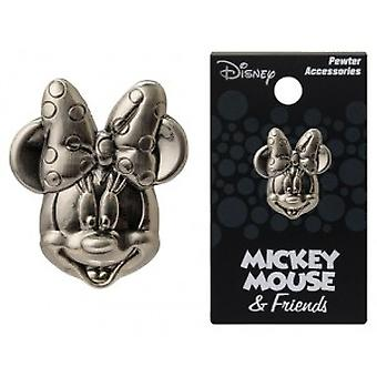 Pin - Disney - Minnie Mouse Head Pewter Lapel New Licensed 25171