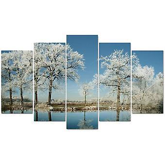 Wellindal Pyramid 5 Pieces Canvas White Trees- Hpp052-87