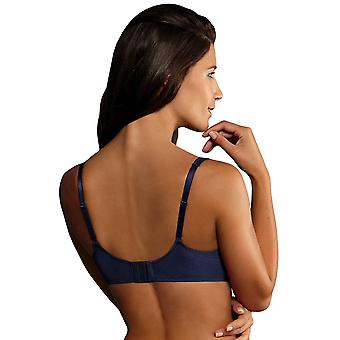 Rosa Faia 5637-382 Women's Selma Patriot Blue Embroidered Underwired Full Cup Bra