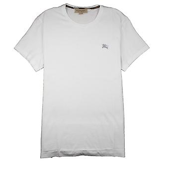 Burberry Joe-Forth Logo brodé T-shirt Blanc/Gris