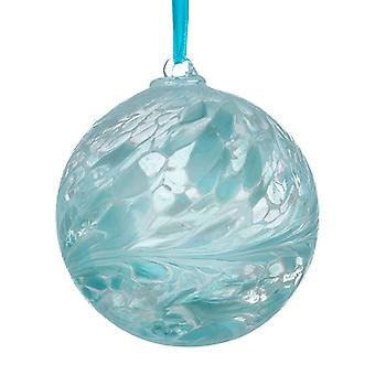 Sienna Glass 10cm Friendship Ball, Pastel Blue