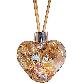 Amelia Art Glass Heart În formă de Reed Difuzor de aur