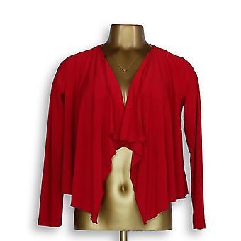 Einstellungen von Renee Frauen's Petite Pullover XXSP Langarm Achselzucken rot A306556