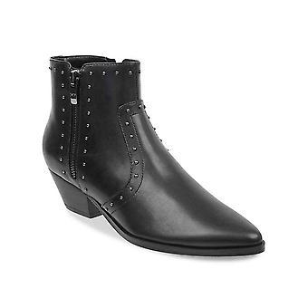 Marc Fisher Femmes Wanida Cuir Amande Toe Ankle Cowboy Bottes