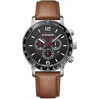 Wenger mens watch black night Roadster chronograph 01.1843.104