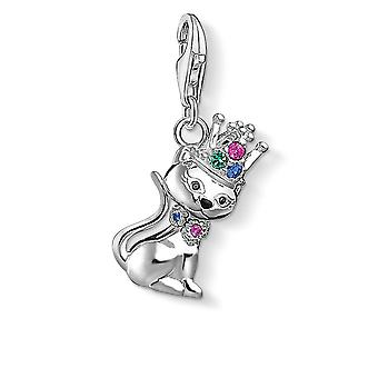 Thomas Sabo Charm Club Silver Cat With Crown Charm 1486-338-7