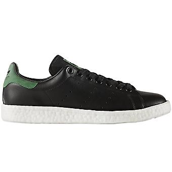 adidas Originals Mens Stan Smith Boost Low Rise Lace Up Trainers - Black/Green