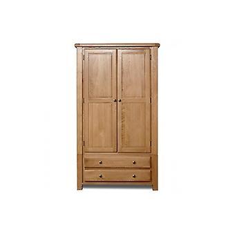 Woodstock 2 Door 2 Drawer Wardrobe - Oak