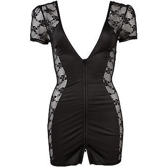 Black dress with zipper