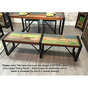 Urban Chic Large Dining Bench Brown - Baumhaus