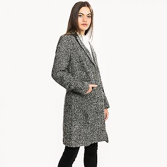 French Connection French Connection Pf Beverly Single Breasted Womens Tweed Coat