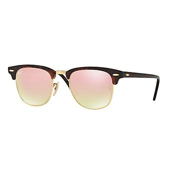 Ray-Ban Clubmaster RB3016 990/7O Shiny Red Havana/Copper Mirror Gradient Sunglasses