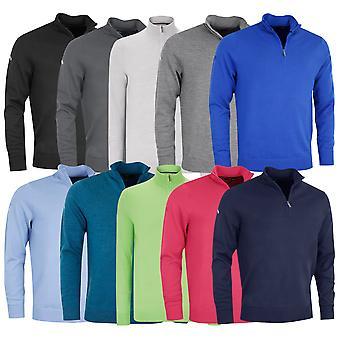 Callaway Golf Mens Ribbed 1/4 Zip Merino Sweater