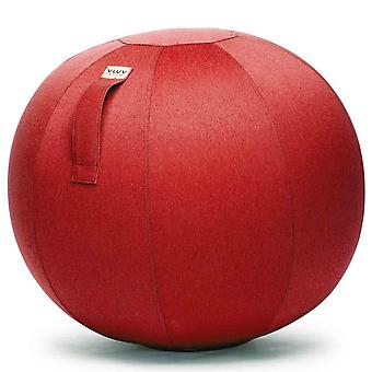 Vluv Leiv Stoff-Sitzball Durchmesser 70-75 cm Ruby / Rubinrot