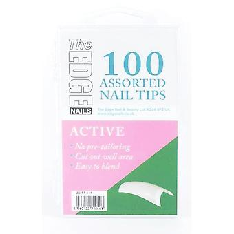Krawędź aktywnych końcówek 100 asstd (w pudełku)