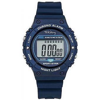 Tekday Watch 654658 - Silicone Blue Box Bracelet Silicone Blue Men/Women