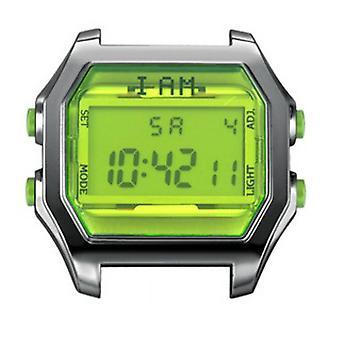 Watch I Am The Watch IAM-103 - Bo tier Aspect M tal Gun Glass and Green Lemon Buttons / Horn Set 20 mm