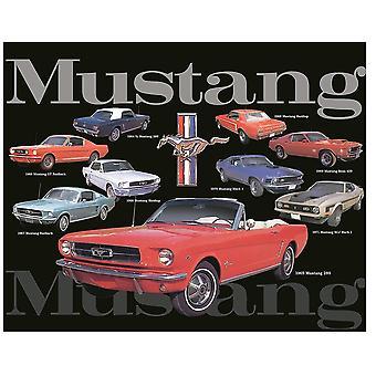 Ford Mustang Colagem grande metal sinal 375milímetros x 300milímetros (st)