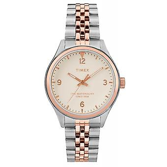 Timex TW2T49200 Waterbury Traditional Rose Gold Two Tone Wristwatch