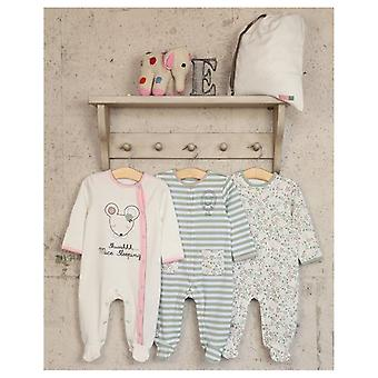 The Essential One 3 Pack Ellie Mouse Floral Sleepsuits