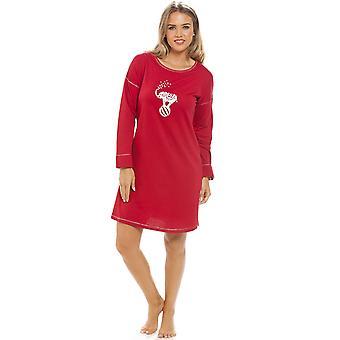 Camille Long Sleeve olifant motief rode knie lengte Pyama