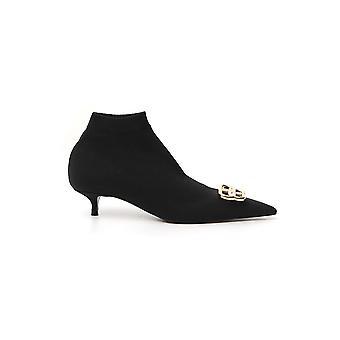 Balenciaga 591022w18031088 Women's Black Polyester Ankle Boots