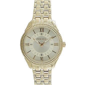 Polisen Damklocka Armbandsur rostfritt stål Analog Golden Mavis PL14739BSG.06M