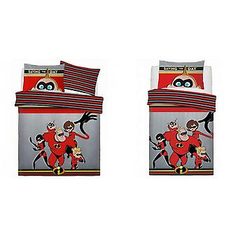 Incredibles Childrens/Kids Saving The Day Duvet Set