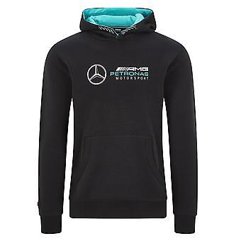 Mercedes AMG Petronas Men's Logo Kapuzenschweiß | Schwarz | 2020