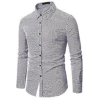 Allthemen Men's Cămașă cu imprimeu cu dungi Slim Fit Luxury T-shirt