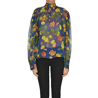Msgm Ezgl020090 Women's Multicolor Polyester Blouse
