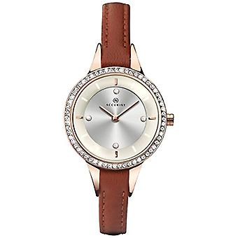 Accurist watches-wristwatches, female, analog, black leather strap