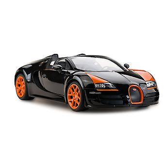 Licensed RC 1:14 Bugatti Grand Sport Vitesse Remote Control Car Toy Black/Orange