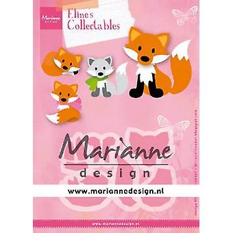 Marianne Design Keräilyesinien leikkauspajut - Eline's Cute Fox Col1474 99x68 mm