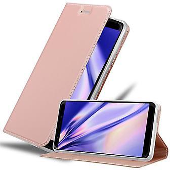 Cadorabo fall för WIKO VIEW GO fallskydd - mobiltelefon fall med magnetiskt lås, stå funktion och kortfack - Case Cover Protective Case Book Folding Style