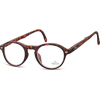 Foldable reading glasses matte brown thickness +1.50 (box66a)