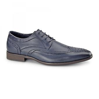 Azor Catania heren lederen Derby Brogues blauw