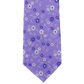 מייקלסון של לונדון נגרר פוליאסטר הפרחוני עניבה לילך