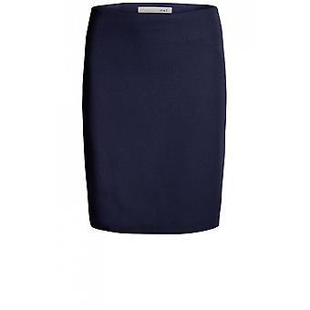 Oui Navy Wool Skirt