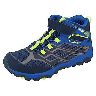 Boys Merrell Waterproof Ankle Boots M-Mb Fst M Ac Wtrpf