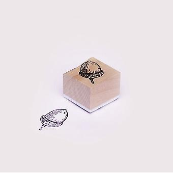 Acorn Wooden Rubber Stamp - Crafts / Scrapbooking / Tags