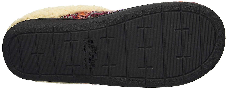 Dearfoams Women-apos;s Shoes Chunky Knit Closed Toe Slip On Slippers