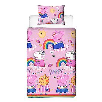 Peppa Pig Hooray Reversible Duvet Set