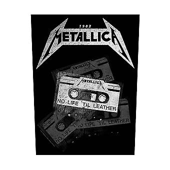 Metallica Back patch No Life Til Leather new Official Leather sew on 36cmx29cm