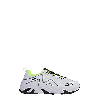 Msgm 2840ms700114001 Men's White Leather Sneakers