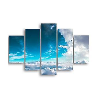 Bild Sky 368 Multicolor in MDF, L19xP0.3xA40 cm (2 Stück), L19xP0.3xA50 cm (2 Stück), L19xP0.3xA60 cm (1 Stück)