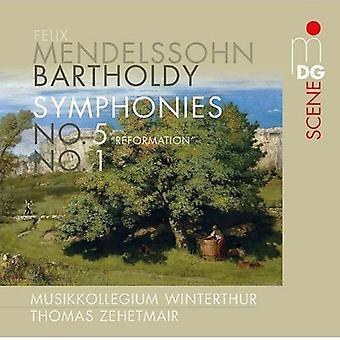 Musikkollegium Winterthur - Mendelssohn: Symphonies Nos. 1 & 5 Reformation [SACD] USA import