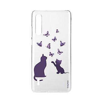 Hull For Xiaomi Mi 9 Myk Kattunge Lite Å Spille Med Butterfly